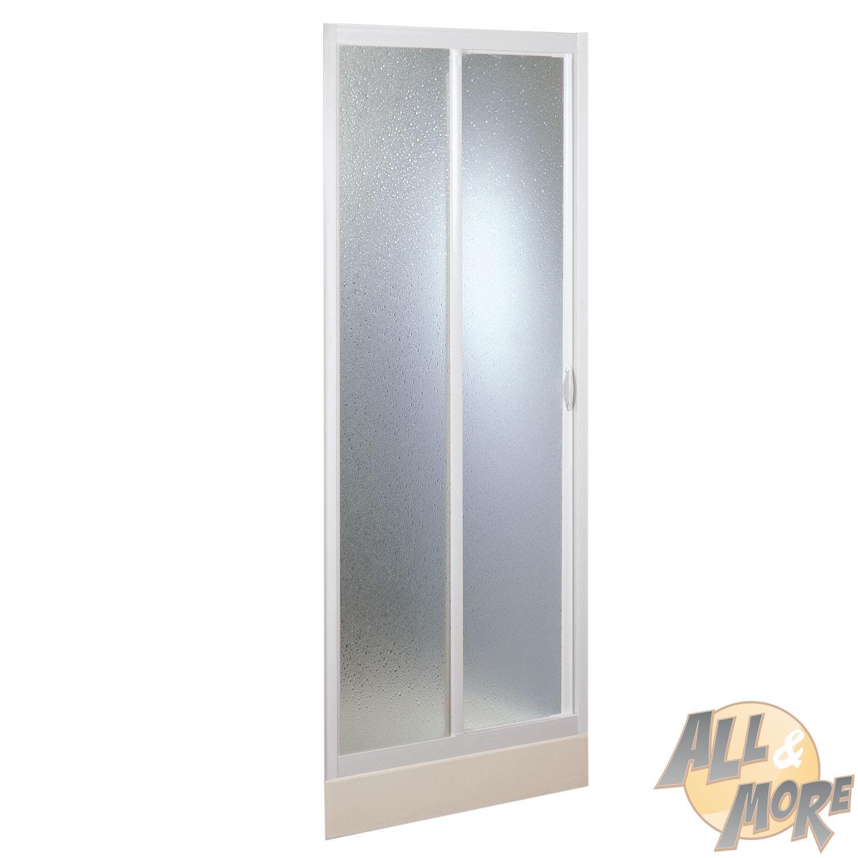 cabine de douche paroi 140cm niche en pvc crilex acrylique 1 porte