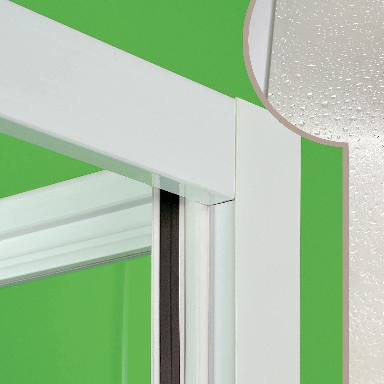 Cabine de douche paroi 130cm niche en pvc crilex acrylique 1 porte coulissante ebay - Porte coulissante pour douche de 130 cm ...