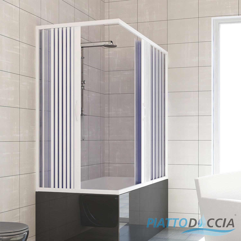Over Bath Shower Enclosure Plastic Pvc Folding Doors Panel