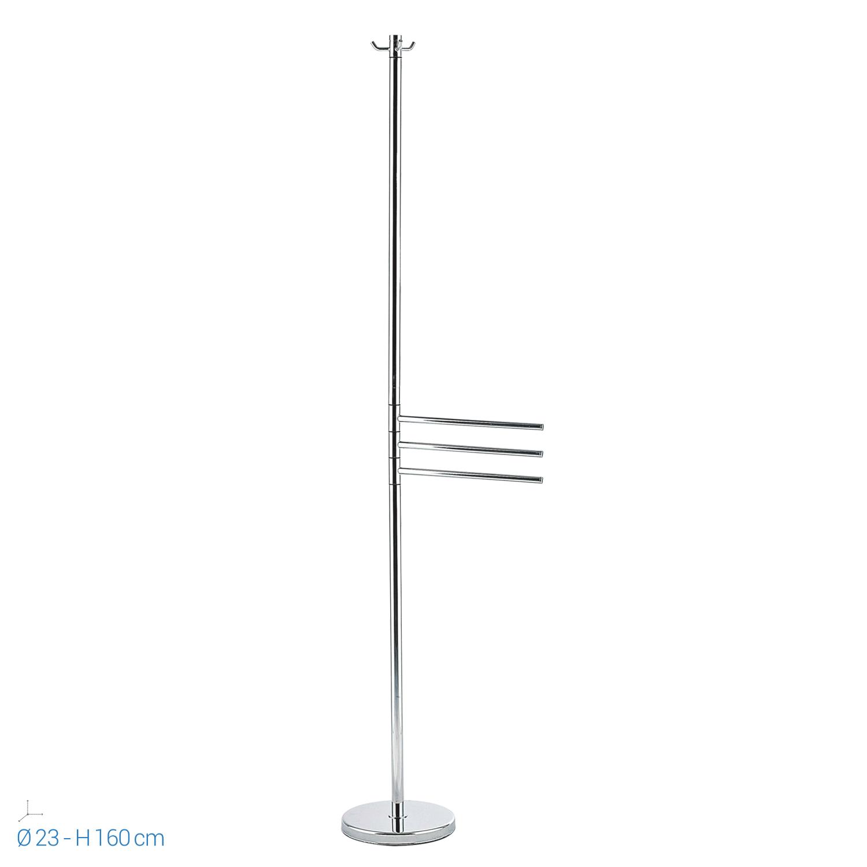 Piantana bagno porta accappatoio acciaio alta cm 160 porta asciugamani colonna ebay - Piantana portasalviette bagno ...