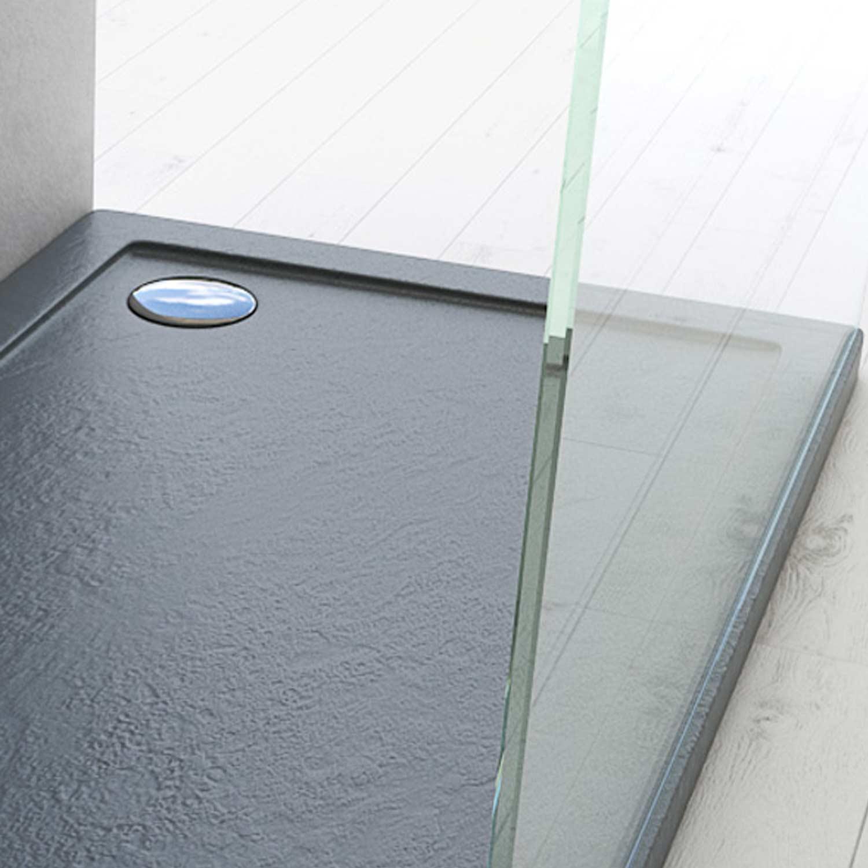 Duschwanne duschtasse 70x90 cm stein effekt rechteckig for Fenster 70x90