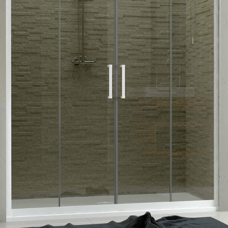 dusche duscht r duschabtrennung nische schiebet ren pvc. Black Bedroom Furniture Sets. Home Design Ideas
