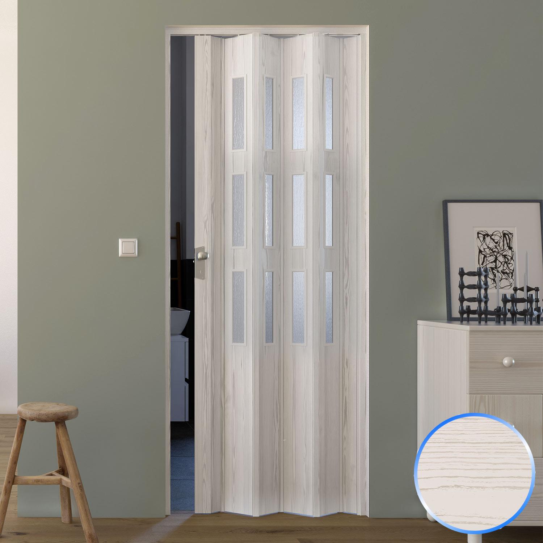 Porta soffietto pvc kit completo vetro vetrini satinati scelta colori su misura ebay - Porta a soffietto in vetro ...