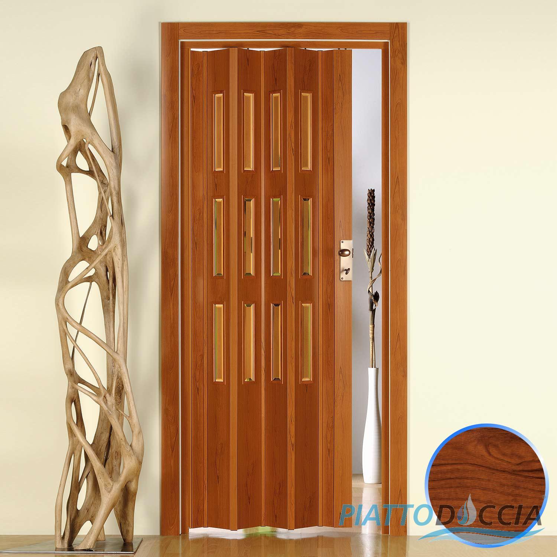 Porte porta a soffietto pvc 88 5x214 cm con vetro colori - Porta a soffietto in vetro ...