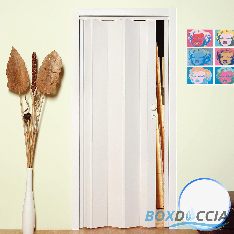 Porte porta a soffietto scorrevole in pvc da interno 83x214 cm riducibile ebay - Porta scorrevole da interno ...