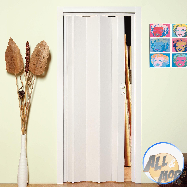Porta A Soffietto Bianca dettagli su porta porte in pvc soffietto scomparsa bianca 83 altezza  riducibile pomolo