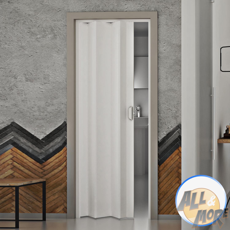 Porte Porta A Soffietto 83x214 Cm Scorrevole In Pvc Da Interno