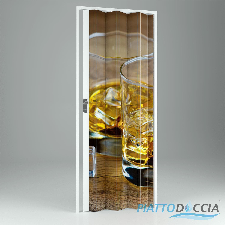 Porte porta a soffietto scorrevole in pvc da interno riducibile bar casa negozi ebay - Porta scorrevole da interno ...