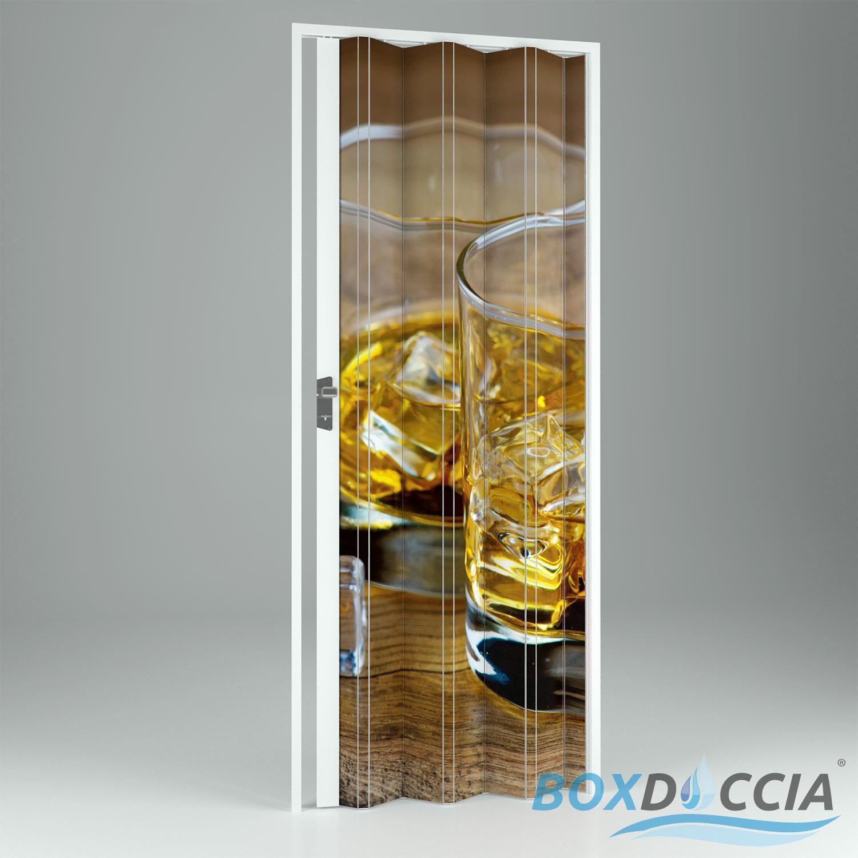 Porte porta a soffietto scorrevole in pvc da interno riducibile bar casa negozi ebay - Porte interno casa ...