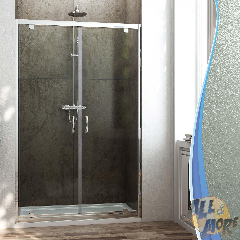 Shower Door Panel Screen 2 Pivot Doors Saloon Opening From 770 To