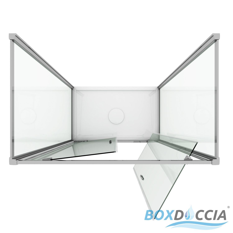 cabine de douche 3 parois verre 2 portes pivot sintesi trio 2 ebay. Black Bedroom Furniture Sets. Home Design Ideas