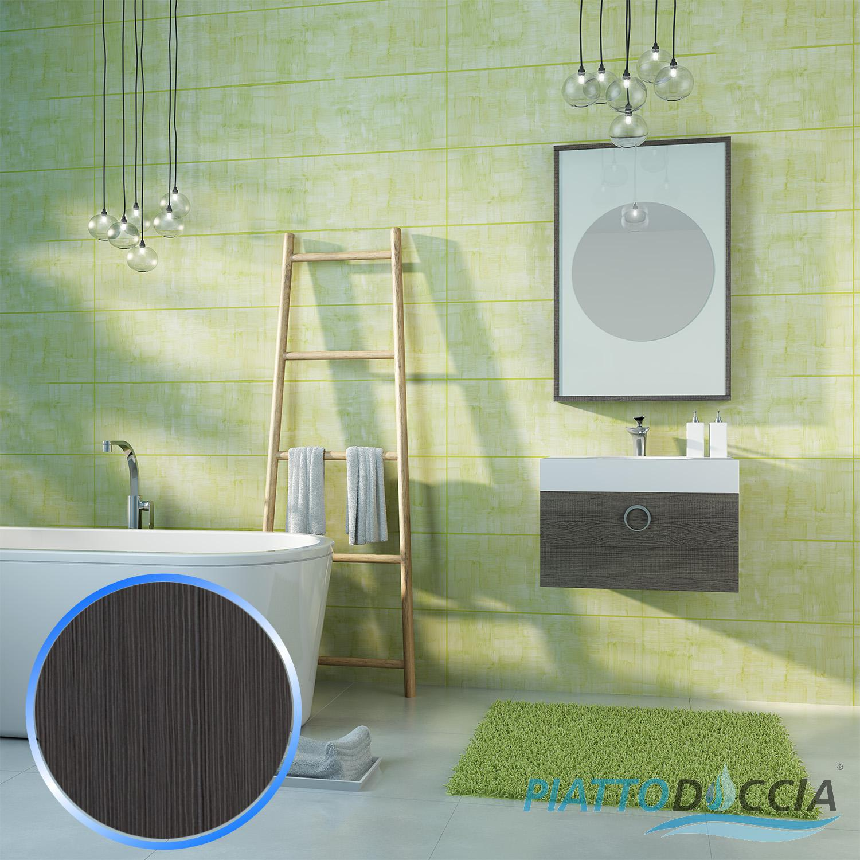 Mobile da bagno sospeso arredo moderno design lavabo specchio 4 colori 60 cm ebay - Bagno design moderno ...