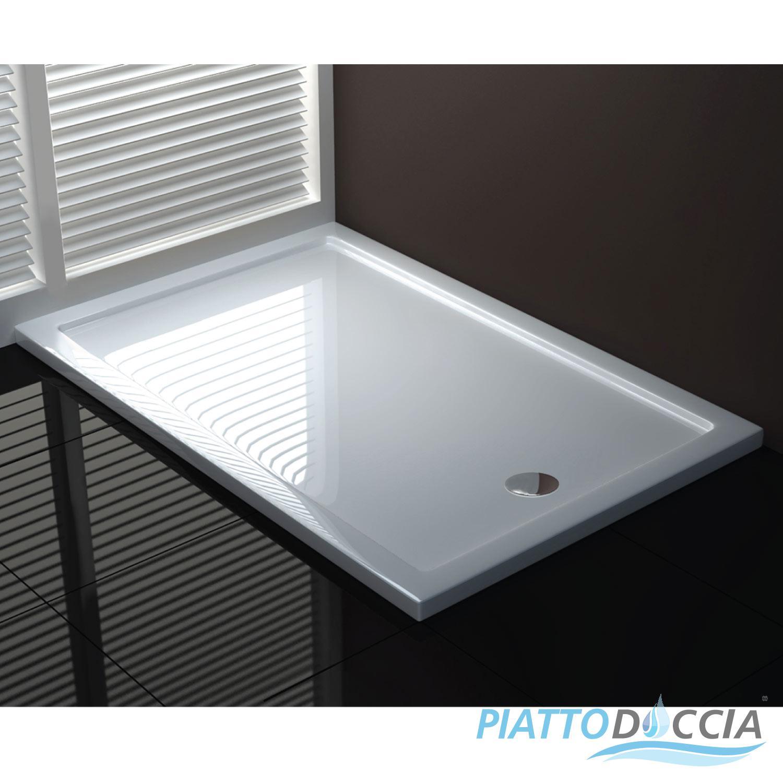 Piatto doccia acrilico quadrato rettangolare pentagonale angolare ultra flat ebay - Box doccia pentagonale ...