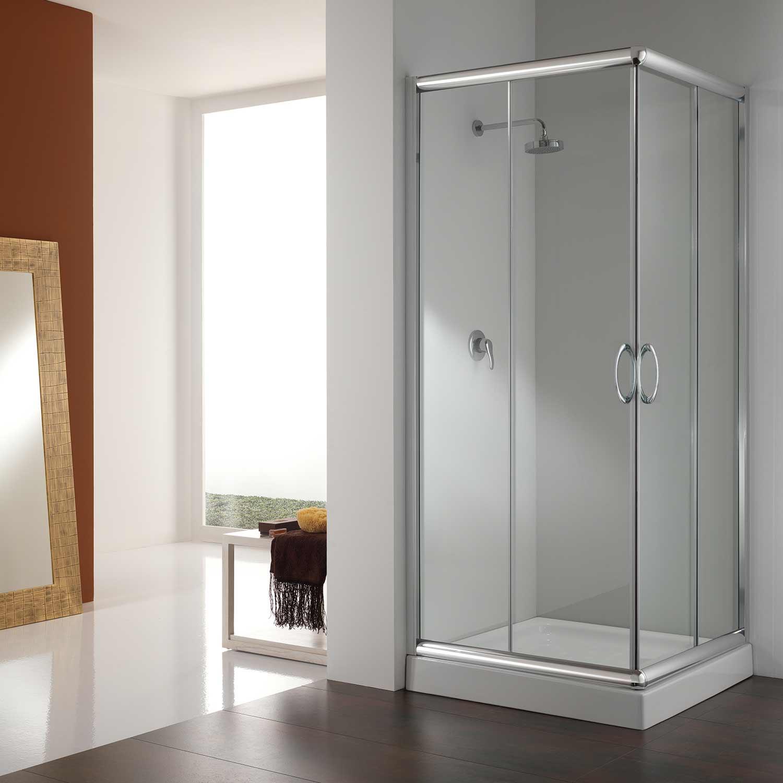 Corner Shower Enclosure 750x750 Mm H1850 Clear Glass