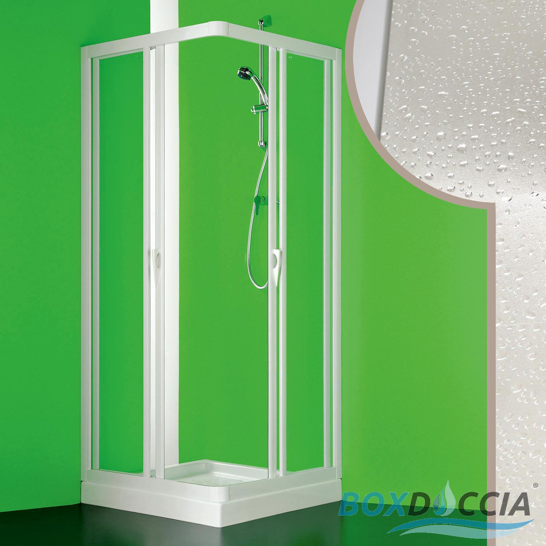Eck duschkabine 75x75 cm in pvc crilex acryl mit 2 for Fenster 75x75