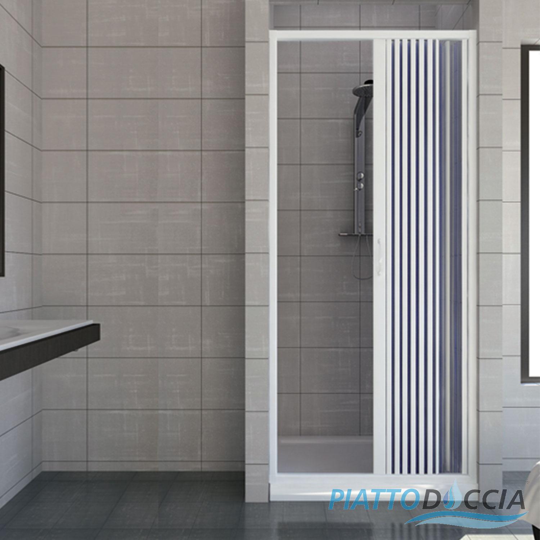 Exceptionnel Porte Paroi De Douche En Plastique PVC Mod. Vergine Avec Ouverture Latérale Belles Idees