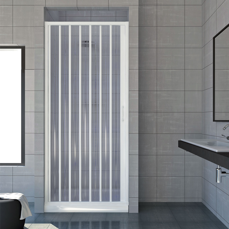 cabine de douche paroi de douche pliante en pvc 14 couleurs sur mesure ebay. Black Bedroom Furniture Sets. Home Design Ideas
