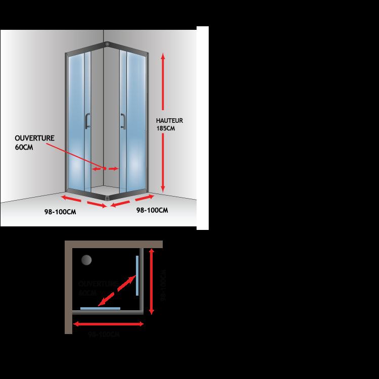 paroi de douche 60 cm good parois de douche ur porte de douche panneaux incroyable porte de. Black Bedroom Furniture Sets. Home Design Ideas
