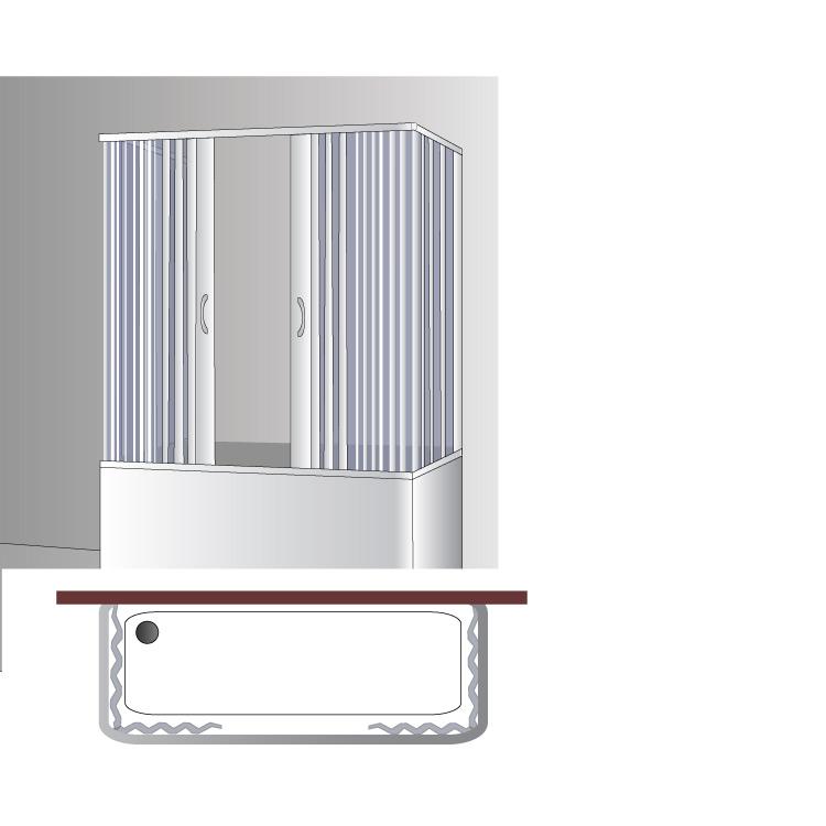 cabine de douche pare baignoire pvc 3 parois 70x160x70 cm ouvert centr 2 portes ebay. Black Bedroom Furniture Sets. Home Design Ideas
