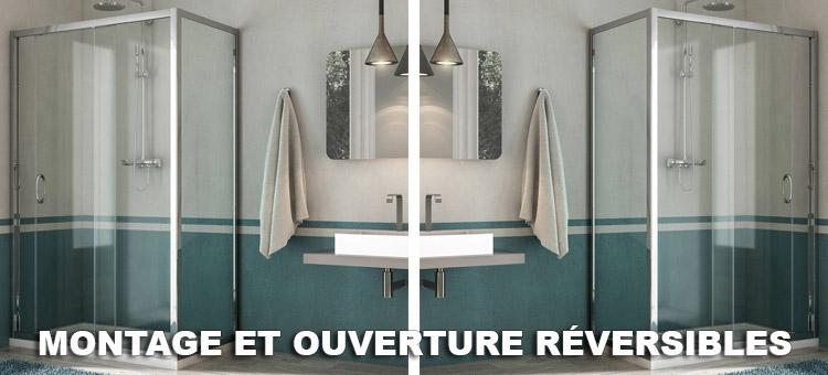 cabine douche 70x100 cm h185 granit c mod le replay duo 1. Black Bedroom Furniture Sets. Home Design Ideas