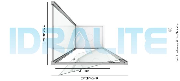 cabine douche ap 80 cm h185 transparent mod le sintesi duo 1 portillon. Black Bedroom Furniture Sets. Home Design Ideas