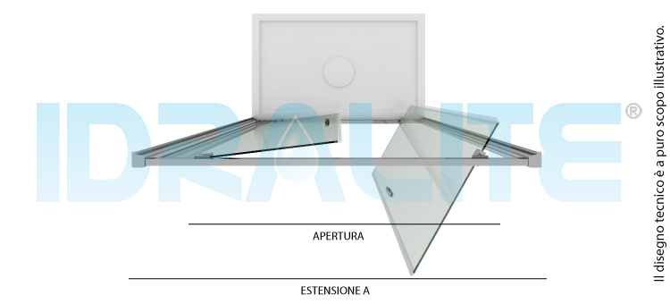 Porta doccia 80cm h185 trasparente mod sintesi 2 ante for 3 stelle arreda