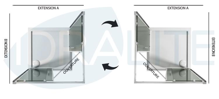 cabine paroi douche 90x90 h200 cm verre transparent. Black Bedroom Furniture Sets. Home Design Ideas