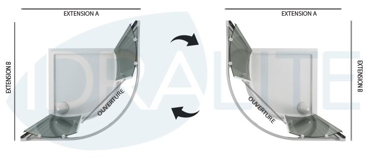 cabine paroi douche demi circulaire 80x80 h185 transparent. Black Bedroom Furniture Sets. Home Design Ideas