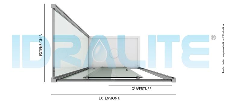 cabine douche 70x100 cm h198 mod young duo 1 porte opaque p15101stc. Black Bedroom Furniture Sets. Home Design Ideas